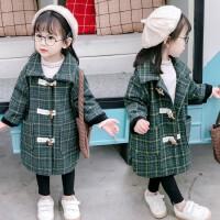 2019新款童装大衣中长款女宝宝秋装毛呢风衣秋冬季女童洋气外套