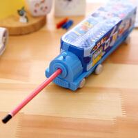 开学文具 创意文具文具盒汽车多功能三层铅笔盒小学生儿童礼品铁质韩国创意可爱笔袋