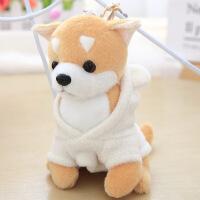 汽车钥匙扣娃娃公仔 可爱萌韩国玩偶书包挂件配饰 迷你小狗毛绒玩具 12厘米