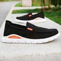 夏季男士鞋子透气老北京布鞋舒适休闲帆布懒人软底一脚蹬单鞋