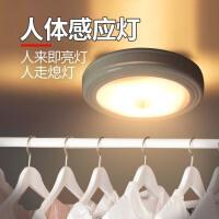 充电LED人体感应光控小夜灯过道衣柜橱柜后备箱鞋柜柜底灯电池