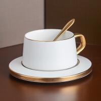 咖啡杯套装 家用欧式小奢华创意陶瓷杯子 带勺带碟下午茶茶具