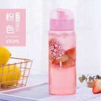 儿童水杯子塑料便携防摔少女小学生韩国清新可爱韩版创意潮流水瓶