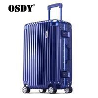 【可礼品卡支付】OSDY新款旅行箱 拉杆箱24寸铝框行李箱 高品质商务旅行箱登机箱 出国托运箱耐压抗摔 海关锁静音万向