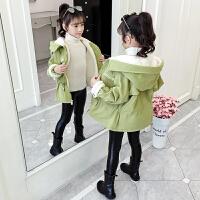 儿童冬装加厚洋气中大童装休闲外套2019新款加绒上衣女童秋冬装外套