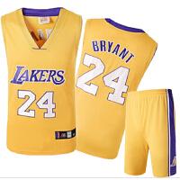 篮球服套装男 湖人队球服24号科比球衣球裤 号码绣花大码