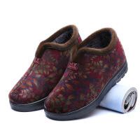 新款老北京妈妈棉鞋女冬季保暖加绒加厚平底中老年奶奶鞋