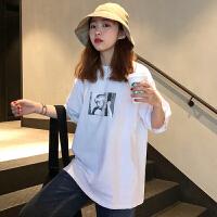 三木子快时尚女装~韩版春季宽松前后印花T恤