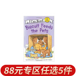 顺丰包邮 可app点读跟读 Biscuit Feeds the Pets小饼干 I can read my first