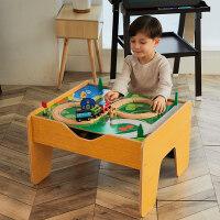 【益智玩具】拖马斯小火车木制轨道玩具套装游戏桌2-3-5岁男女孩木质玩具套装