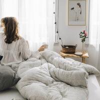 新款纤维被全棉针织棉加厚保暖被子冬被单人空调被棉被芯双人太空被春秋被褥