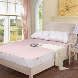 [当当自营]富安娜床垫磨毛印花保护垫 素雅亲肤保护床垫 咖色 120*200