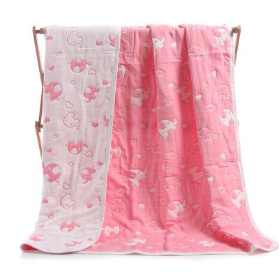 婴儿浴巾六层纱布纯棉宝宝浴巾婴儿盖被新生儿包被纯棉卡通柔软童被毛巾被