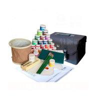 马利牌1100水粉颜料8件套装 24色颜料+工具箱+画笔+调色盒