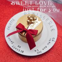 结婚礼喜糖盒子马口铁盒个性糖果盒包装盒圆形金色伴手礼品 网红 成品如图(单款单色30个起拍)