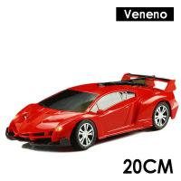 充电遥控车方向盘电动玩具车遥控汽车漂移赛车男孩玩具一件 兰博VEN 红色 1:24