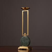 客厅欧式摆件家居装饰品摆设新古典现代创意工艺品铜烛台摆件