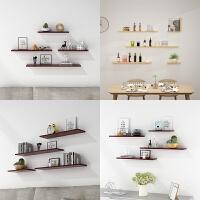 实木墙上置物架一字隔板书架墙面装饰架可定制隔板书房卧室置物架