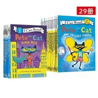 【全店满300减80】共12册 入门级9册+一阶段3册 皮特猫英文原版绘本 I Can Read Pete the Cat 儿童分级读物启蒙学习