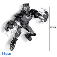 钢铁侠死侍黑豹雷神灭霸超人复仇者联盟男孩可动拼装积木玩具