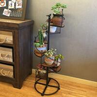 花架铁艺实木多层客厅室内落地式花架子阳台木质多肉花盆架植物架