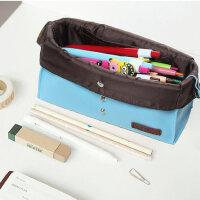 umi韩国创意文具袋简约男女学生笔帘文具盒大容量笔帘笔袋