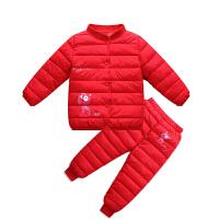 冬季童装儿童羽绒内胆套装男童女童小孩棉袄宝宝中小童两件套