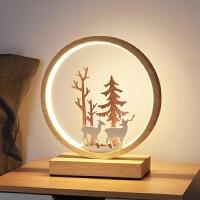 台灯卧室床头柜温馨浪漫简约现代北欧风触摸调光创意个性小鹿灯