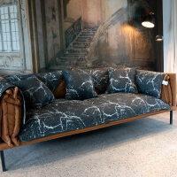 北欧沙发垫棉布艺坐垫百搭耐脏滑G定制