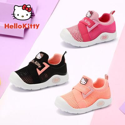 【4折价:99.6元】HelloKitty童鞋 春夏新款女童宝宝休闲鞋套脚魔术贴运动鞋 K0525909