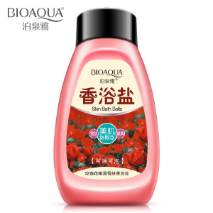 泊泉雅 玫瑰花嫩滑雪肤香浴盐 温和滋养 洁净保湿 补充水润 平衡油脂
