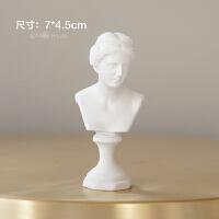 迷你小石膏像摆件素描头像树脂人物北欧式ins雕像摆拍照道具模型