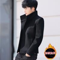 小西装男士秋冬季新款韩版修身呢子西服男春秋潮流帅气毛呢外套男