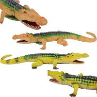 跨境仿真大鳄鱼模型玩具塑胶发声鳄鱼玩具 海洋动物儿童玩具批发
