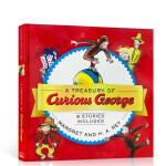 好奇猴乔治 8个故事合集英文原版绘本 A Treasury of Curious George 汪培�E第3阶段 精装图