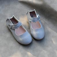 女童单鞋儿童亲子鞋公主鞋小白鞋豆豆鞋