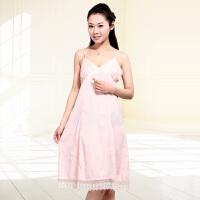 金丰田夏季女士吊带睡裙 棉质蕾丝性感无袖睡裙1215