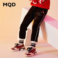 MQD童装加厚女童针织裤2019冬季新款儿童加绒运动裤保暖束脚裤潮