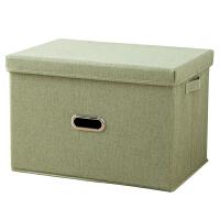 有盖折叠棉麻衣物收纳箱布艺特大衣柜收纳盒衣服整理箱家用储物箱