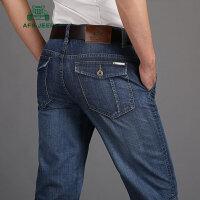 战地吉普AFS JEEP夏季牛仔短裤男 男装时尚休闲直筒牛仔裤 韩版潮男薄款牛仔七分裤