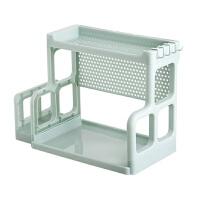 双层置物架厨房调味瓶收纳架塑料厨具挂架调料架砧板架刀架