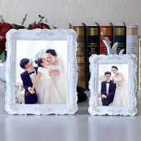 欧式婚纱照相框摆台5 6 7 8 10 12寸白色镶钻田园相架创意照片框 11寸 小12寸