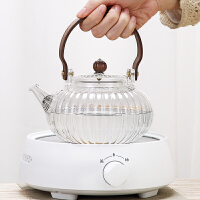 唐丰玻璃煮茶壶单个锤纹提梁壶家用烧茶壶加厚透明过滤泡茶壶日式