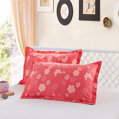 当当优品家纺 纯棉斜纹印花枕罩 48X74对装枕套 尚彩风华当当自营 100%纯棉 无甲醛 柔软舒适 透气性好 2个装