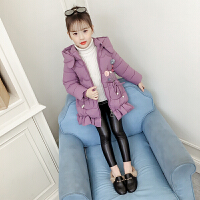 童装女童棉衣2018新款冬装外套中大童儿童加厚韩版中长款棉袄