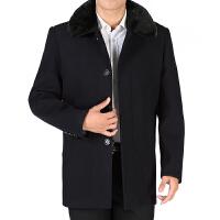 2016秋冬装新款男装外套拉链简洁质感毛领男士毛呢大衣