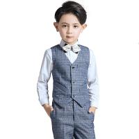 男孩礼服儿童西装套装男童钢琴演出花童西服小主持人表演英伦秋冬