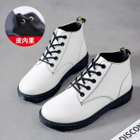 冬季新款韩版马丁短靴冬鞋短筒雪地女鞋网红学生加绒百搭棉鞋