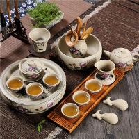 【好店】【好店】陶瓷紫砂粗陶喝茶功夫茶具土陶盖碗茶杯套装中式家用日式复古荼具