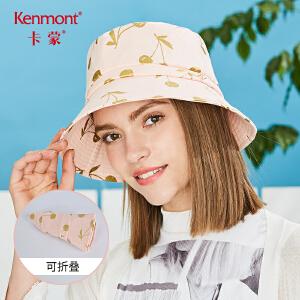 卡蒙棉质帽子遮阳帽可爱软妹渔夫帽女日系时尚小盆帽夏防晒太阳帽 3642